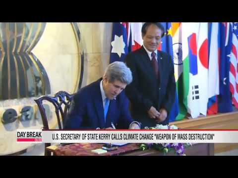 Kerry urges action to combat climate change