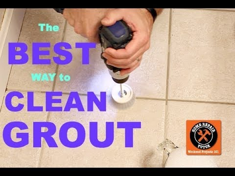 Best way to clean grout ever by home repair tutor for Best way to clean bathroom