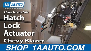 How To Install Replace Rear Hatch Lock Actuator Chevy