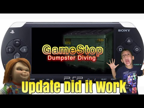 GameStop Dumpster Diving Ep303 Psp Update Did IT Work!