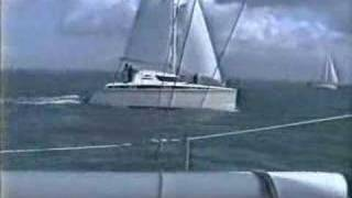 30ft Sagitta Catamaran Sailing Fast