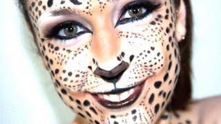 Maquillaje de leopardo