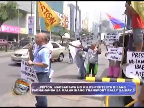 PISTON made a noise barrage for transport rally on May 1