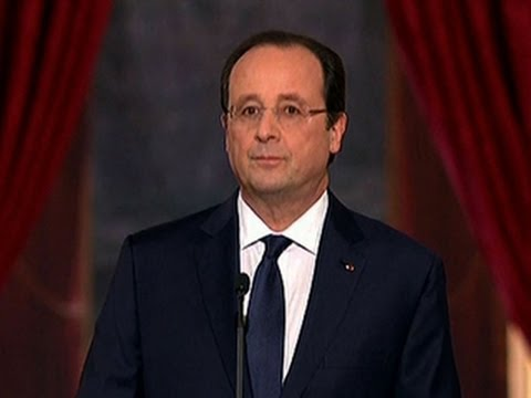 French president arrives in U.S. without former first lady