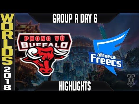PVB vs AFS Highlights | Worlds 2018 Group A Day 6 | Phong Vu Bugffalo(VCS) vs Afreeca Freecs(LCK)