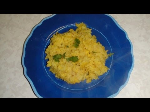 Moong Dal Khichdi Recipe- Rice with Yellow Lentil -  Basics from Bhavna's Kitchen!