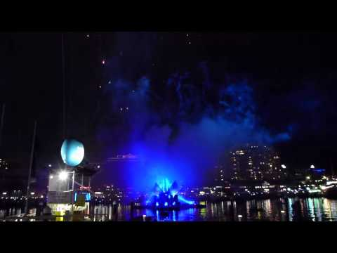 Australia day sydney fireworks darling harbour 2014 - Great view