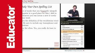 """""""Tips to Improve Your Spelling""""   Advanced English Grammar with Educator.com"""