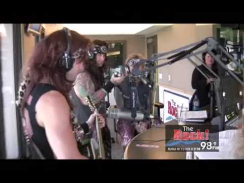 """Steel Panther Live on The Johnny Dare Morning Show - """"Girl from ..."""