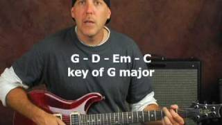 Rock guitar lesson soloing exercise play lead scales