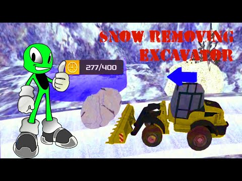 Video for kids fun snow game playing | Real Snow Excavator Simulator 2019 | How to play level 1-5