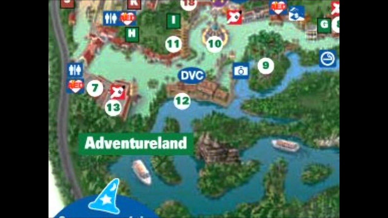 Adventureland interactive map Disney World YouTube