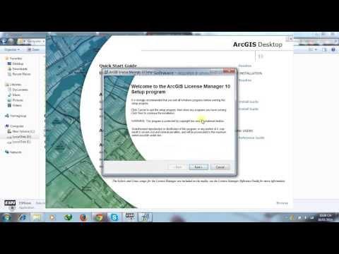 Hướng dẫn cài đặt và crack ArcGIS 10