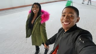 ALMOST FELL ICE SKATING!! | VLOGMAS DAY 7