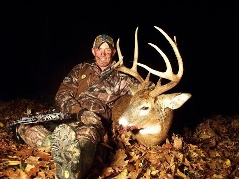 Deer Hunting - Bowhunting Giant Illinois Whitetail 8 Point Buck