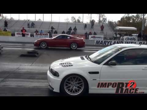 Supra vs M3 BMW drag race