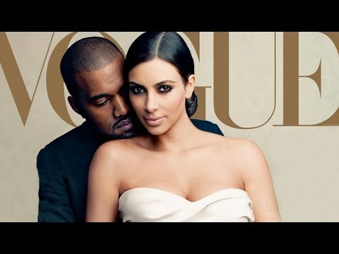 Kim Kardashian & Kanye West Cover VOGUE Magazine Featuring Baby North!