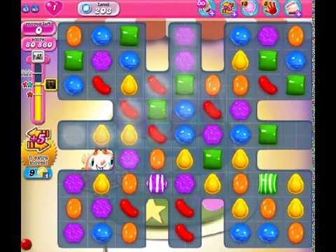 How to beat Candy Crush Saga Level 203 - 2 Stars - No Boosters - 81