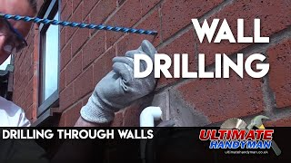 Drilling through cavity walls