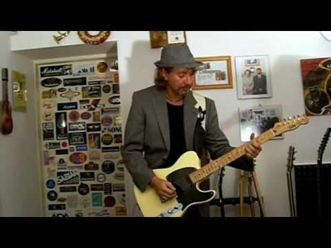 Blues Rock Guitar Tune With Fender Telecaster