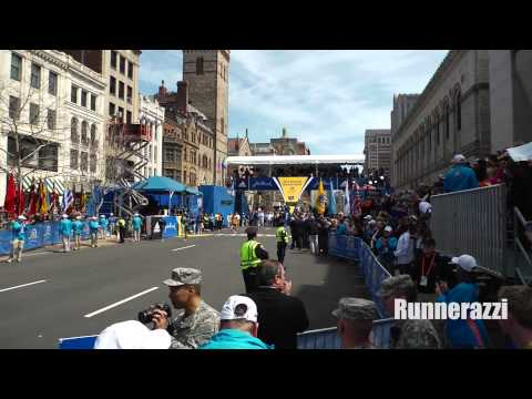 Raw Footage of Meb Keflezighi Winning the 2014 Boston Marathon