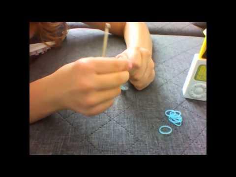 Instrukcja po polsku - Jak zrobić bransoletkę z gumek recepturek na mini krośnie lub palcach