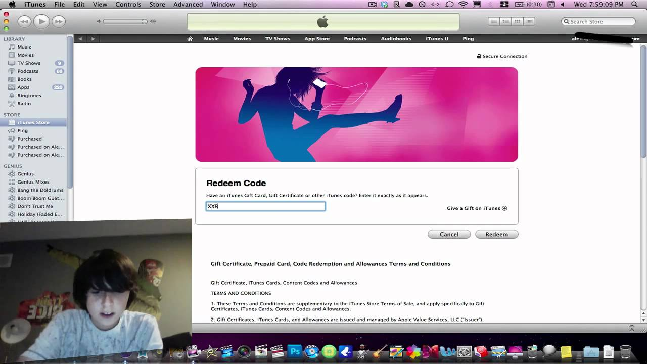 how to add itunes gift card to account