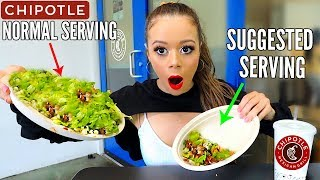Only Eating Recommended Serving Sizes for 24 HOURS FOOD CHALLENGE! | Krazyrayray