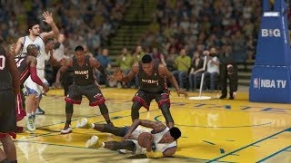 NBA 2K14 PS4 My Career Curry's Back Vs. Miami Heat