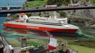 Modellbahn Norwegen mit Hafen von Bergvik und Tromsø im Miniatur Wunderland