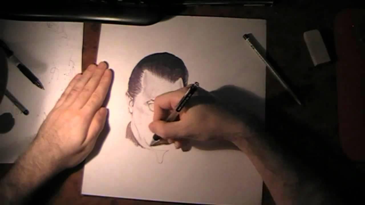 How To Draw Steven Seagal Kako Se Crta Hemijskom Olovkom