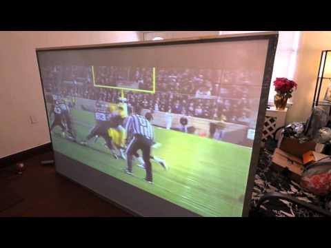 Quantum light fusion rear projector screen blackout cloth sports