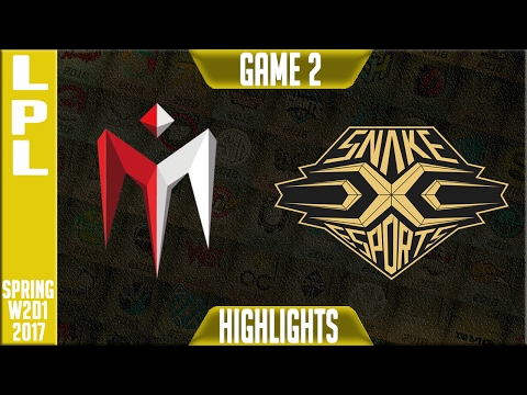 IMay vs Snake Esports Highlights Game 2 - LPL W2D1 Spring 2017 - IM vs SNK G2