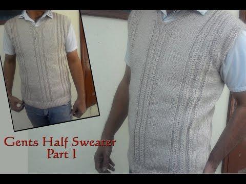 Gents Half Sweater Step by Step Part I (जेंट्स  हाल्फ स्वेटर )