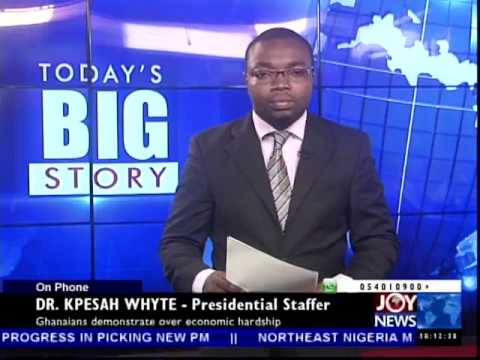 Ghanaians Demonstrate Over Economic Hardship - Today's Big Story on Joy News (1-7-14)