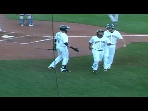 Nolan Arenado hits an RBI double for the Sky Sox