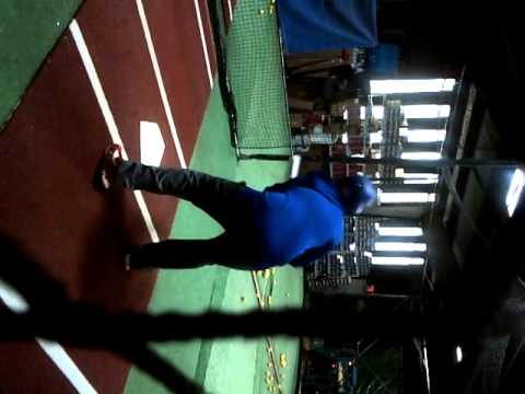 Adam at  the cages