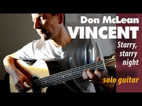 Don McLean - Vincent - Starry, starry night - Acoustic Guitar Cover by Charlie Kager - Taylor GT-8