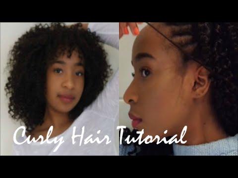 Hair Tutorial | Curly Crochet Braids & Weave
