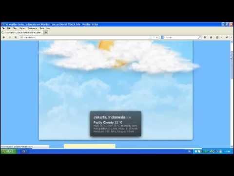 Cuaca hari ini dan prakiraan cuaca menggunakan cuaca.info