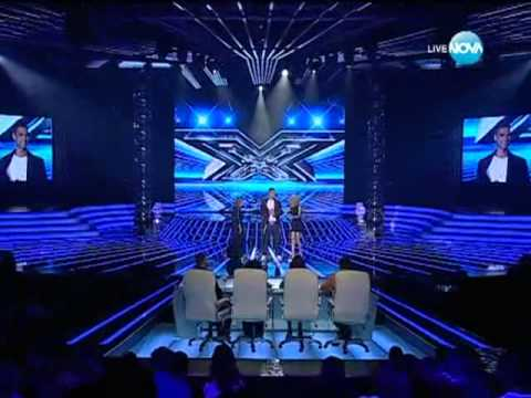 Атанас Колев в X Factor Bulgaria 50 cent - In Da Club [ Live ]