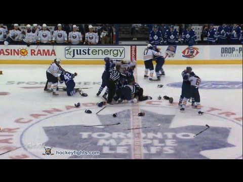 Buffalo Sabres vs Toronto Maple Leafs Brawl Sep 22, 2013