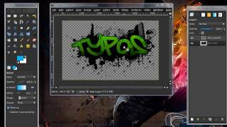 Video How To Make A Splatter Graffiti Effect In GIMP (HD)