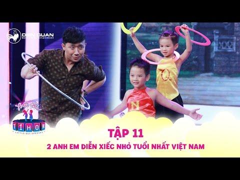 Biệt tài tí hon | tập 11: Trấn Thành vô tư diễn xiếc cùng 2 anh em Minh Quang, Minh Nhựt