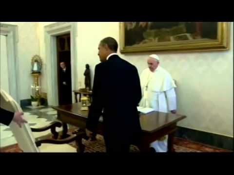 Barack Obama meets Pope Francis