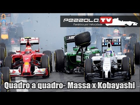 Felipe Massa e Kamui Kobayashi- Quadro a quadro do acidente!