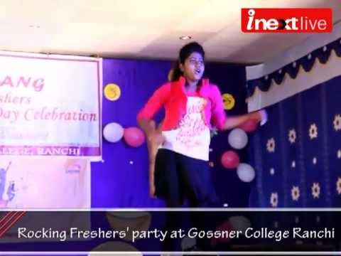 Rocking Freshers' party at Gossner College Ranchi