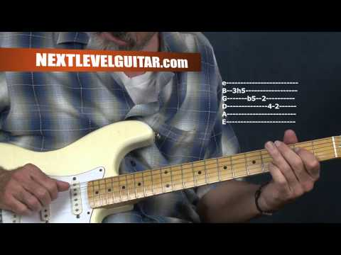 Learn Post War Electric Chicago Blues guitar lesson inspired by Magic Sam Otis Rush on Strat