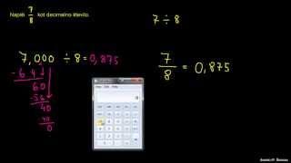 Primer 3 – Pretvorba ulomka na decimalno število