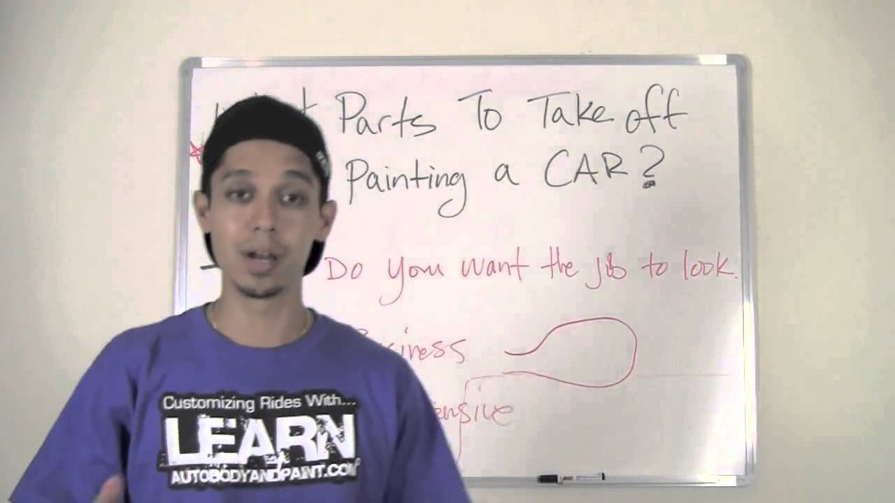 how to spray paint a car what parts to take off youtube. Black Bedroom Furniture Sets. Home Design Ideas